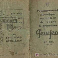 Coches y Motocicletas: 'PEUGEOT' 12CV.-TYPE 183- CATÁLOGO FRANCÉS. Lote 25747273