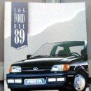 Coches y Motocicletas: LOS FORD DEL '89 - CATALOGO PUBLICIDAD ORIGINAL. Lote 26035073