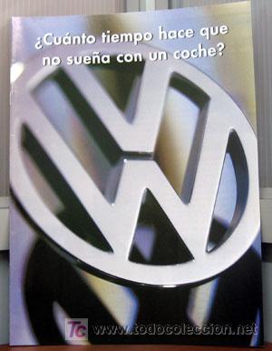 GAMA VOLKSWAGEN. 1996. CATALOGO PUBLICIDAD ORIGINAL (Coches y Motocicletas Antiguas y Clásicas - Catálogos, Publicidad y Libros de mecánica)