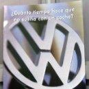Coches y Motocicletas: GAMA VOLKSWAGEN. 1996. CATALOGO PUBLICIDAD ORIGINAL . Lote 26077808