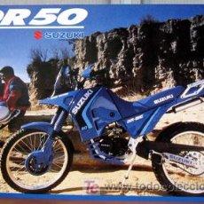 Coches y Motocicletas: SUZUKI DR-50 -- CATALOGO PUBLICIDAD ORIGINAL . Lote 97099335