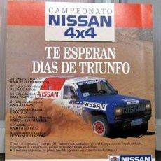 Coches y Motocicletas: HOJA INSCRIPCCION CAMPEONATO NISSAN 4X4. Lote 26786662