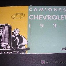 Coches y Motocicletas: CATALOGO CAMIONES CHEVROROLET 1934. Lote 11936634