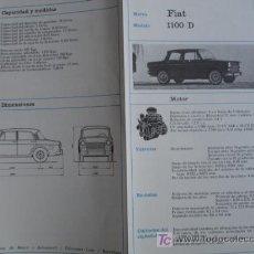 Coches y Motocicletas: FICHA TECNICA,FIAT 1100D. Lote 7800451