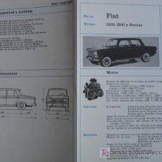 Coches y Motocicletas: FICHA TECNICA,FIAT 1300,1500,NECKAR. Lote 7800466
