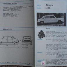 Coches y Motocicletas: FICHA TECNICA, MORRIS 1800. Lote 7800456