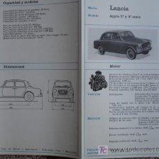 Voitures et Motocyclettes: FICHA TECNICA, LANCIA APPIA 2ª Y 3ª SERIE. Lote 9498571