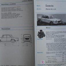Coches y Motocicletas: FICHA TECNICA, LANCIA FLAVIA 1.8,1.5. Lote 7937511