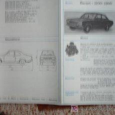 Coches y Motocicletas: FICHA TECNICA, FORD ESCORT 1100-1300. Lote 7800462