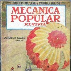 Coches y Motocicletas: REVISTA MECANICA POPULAR -- JULIO 1959. . Lote 26445658