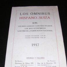 Coches y Motocicletas: LOS OMNIBUS HISPANO - SUIZA, 1917.ILUSTRADO. Lote 26382615