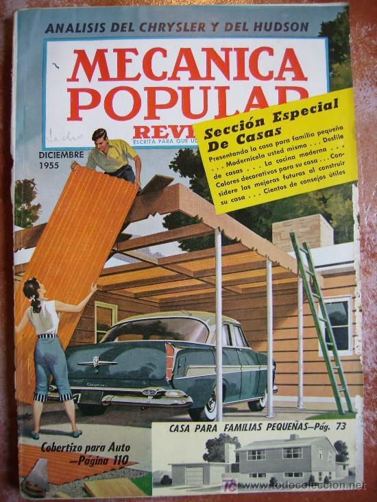 MECANICA POPULAR, REVISTA DE 1955 MAGNIFICA 168PGS 24X17 LOMO APOLILLADO (Coches y Motocicletas Antiguas y Clásicas - Catálogos, Publicidad y Libros de mecánica)