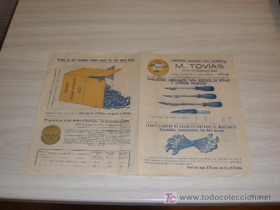 SUMINISTROS GENERALES PARA EL AUTOMOVIL M TOVIAS BARCELONA (Coches y Motocicletas Antiguas y Clásicas - Catálogos, Publicidad y Libros de mecánica)