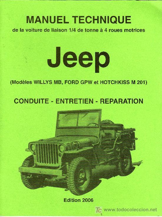 manual tecnico de la jeep willys mb ford gpw comprar cat logos rh todocoleccion net willys jeep manual pdf willys jeep shop manual