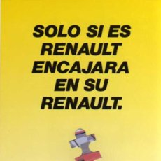 Coches y Motocicletas: PUZZLE - RENAULT 19 CHAMADE. Lote 35953261