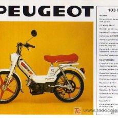 Coches y Motocicletas: FOLLETO PEUGEOT 103 MTV / SC 80 L. Lote 10920968