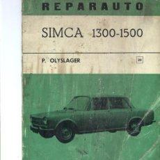 Coches y Motocicletas: SIMCA 1300 1500 MANUAL DE TALLER. SIMCA 1200. Lote 26670550