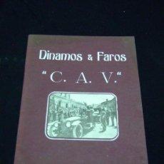 Coches y Motocicletas: AUTOMOVIL, CATÁLOGO DINAMOS Y FAROS C.A.V.. Lote 26285231