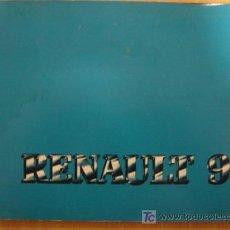 Coches y Motocicletas: MANUAL ORIGINAL DE INSTRUCCIONES RENAULT 9 GTL TSE MARZO 1982. Lote 5781890