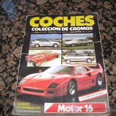 Coches y Motocicletas: ALBUM DE CROMOS COMPLETO /// 186 CROMOS ////. Lote 23724964