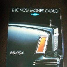Coches y Motocicletas: CHEVROLET MONTECARLO 1978, CATALGO COMERCIAL-BROCHURE. Lote 122924494