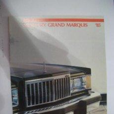 Coches y Motocicletas: MERCURY GRAND MARQUIS 1985, CATALOGO COMERCIAL-BROCHURE. Lote 43980439