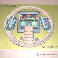 Coches y Motocicletas: CITROEN GSA - MANUAL USUARIO ORIGINAL - 1979 - ESPAÑOL. Lote 20077535