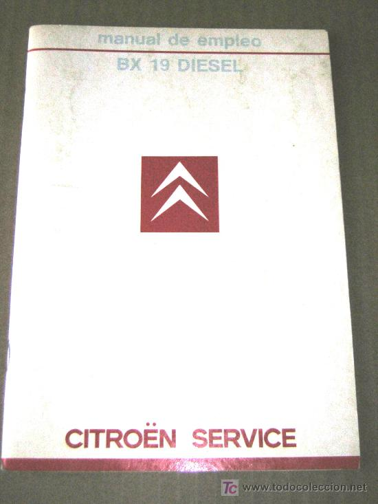 citroen bx 19 diesel manual usuario original comprar cat logos rh todocoleccion net