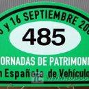 Coches y Motocicletas: PLACA DE PARTICIPACION Nº 485 EN LAS JORNADAS DE PATRIMONIO DE AUTOMOCION - 2007 -. Lote 26232245