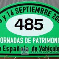 Coches y Motocicletas - PLACA DE PARTICIPACION Nº 485 EN LAS JORNADAS DE PATRIMONIO DE AUTOMOCION - 2007 - - 26232245