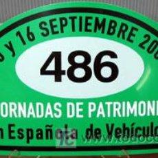 Coches y Motocicletas: PLACA DE PARTICIPACION Nº 486 EN LAS JORNADAS DE PATRIMONIO DE AUTOMOCION - 2007 -. Lote 26357591