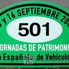 Coches y Motocicletas - PLACA DE PARTICIPACION Nº 501 EN LAS JORNADAS DE PATRIMONIO DE AUTOMOCION - 2007 - - 26357593