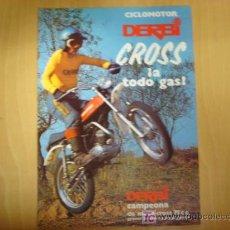 Coches y Motocicletas: .LAMINA TECNICA CICLOMOTOR DERBI CROSS . . Lote 6269779