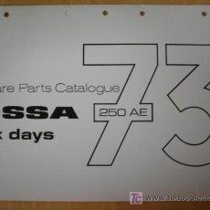 Coches y Motocicletas: MANUAL DESPIECE ORIGINAL MOTOCICLETA OSSA 250 SIX DAYS 1973 ENDURO. Lote 6305456