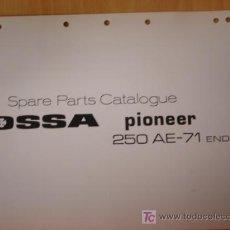 Coches y Motocicletas: MANUAL DESPIECE ORIGINAL OSSA PIONEER 250 ENDURO AE 1971. Lote 6305529