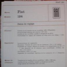 Coches y Motocicletas: SISTEMA ELECTRICO , FIAT 124. Lote 7800471