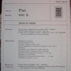 Coches y Motocicletas: SISTEMA ELECTRICO , FIAT 500D. Lote 7800472