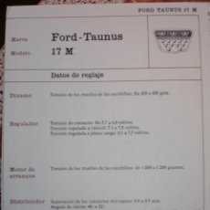 Coches y Motocicletas: SISTEMA ELECTRICO , FORD TAUNUS 17 M. Lote 7800473
