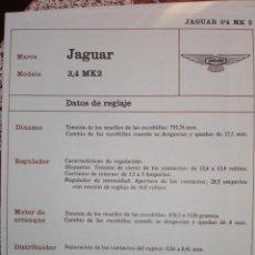 Coches y Motocicletas: SISTEMA ELECTRICO , JAGUAR 3.4 MK2. Lote 10279907