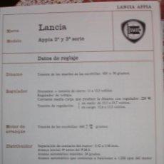 Coches y Motocicletas: SISTEMA ELECTRICO , LANCIA APPIA. Lote 6414088