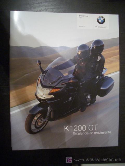 BMW K 1200 GT 2007, CATALOGO COMERCIAL-BROCHURE (Coches y Motocicletas Antiguas y Clásicas - Catálogos, Publicidad y Libros de mecánica)