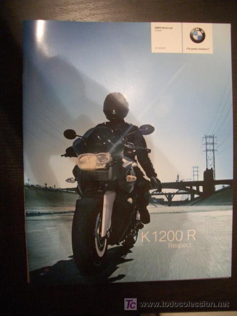 BMW K 1200 R 2007, CATALOGO COMERCIAL-BROCHURE (Coches y Motocicletas Antiguas y Clásicas - Catálogos, Publicidad y Libros de mecánica)