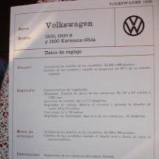 Coches y Motocicletas: SISTEMA ELECTRICO,VOLKSWAGEN-1500-1500S-1500 KARMANN GUIA. Lote 6462315