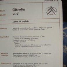 Coches y Motocicletas: SISTEMA ELECTRICO,CITROEN 2 CV. Lote 6480016