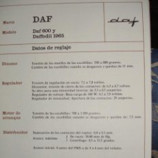 Coches y Motocicletas: SISTEMA ELECTRICO,DAF 600 DAFFODILL 1965. Lote 6480026