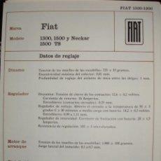 Coches y Motocicletas: SISTEMA ELECTRICO,FIAT 1300,1500,NECKAR. Lote 6480046