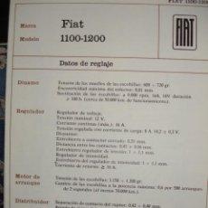 Coches y Motocicletas: SISTEMA ELECTRICO,FIAT 1100.1200. Lote 6480051