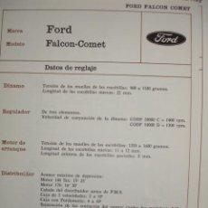 Coches y Motocicletas: SISTEMA ELECTRICO,FORD FALCOM.COMET. Lote 6480059