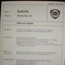 Coches y Motocicletas: SISTEMA ELECTRICO,LANCIA FLAVIA,1.8 Y 1.5. Lote 6480086