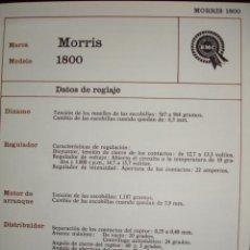 Coches y Motocicletas: SISTEMA ELECTRICO,MORRIS 1800. Lote 6480106